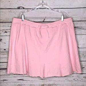 Fashion Bug 22/24W Pink Pleated Knit Skort
